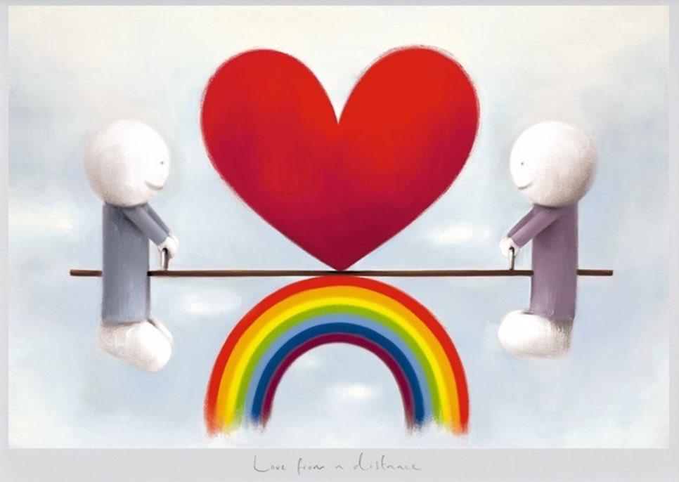 Love at a distance ♥️🌈 #love #staysafe #atadistance 🙏