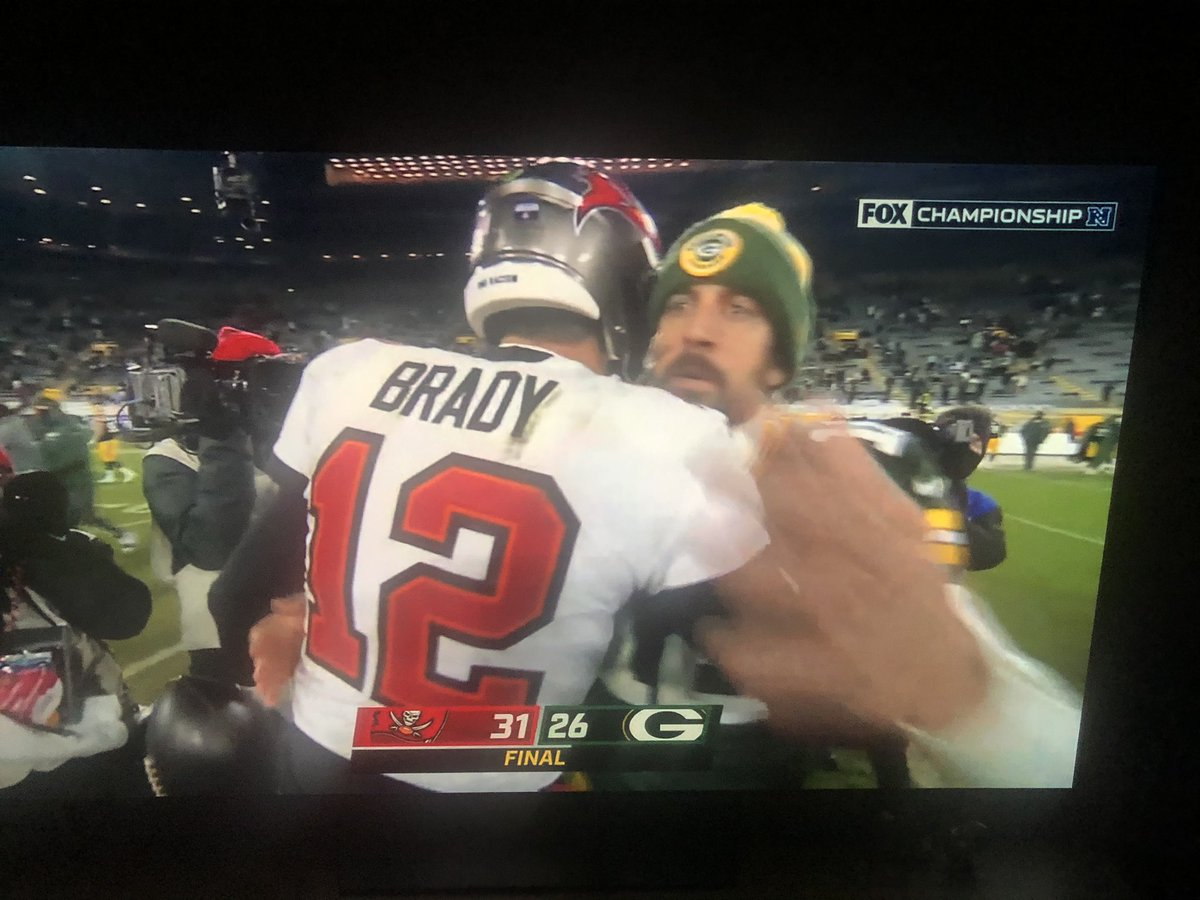 Two of the greatest QBs to play the game! #Buccaneers #NFCChampionship