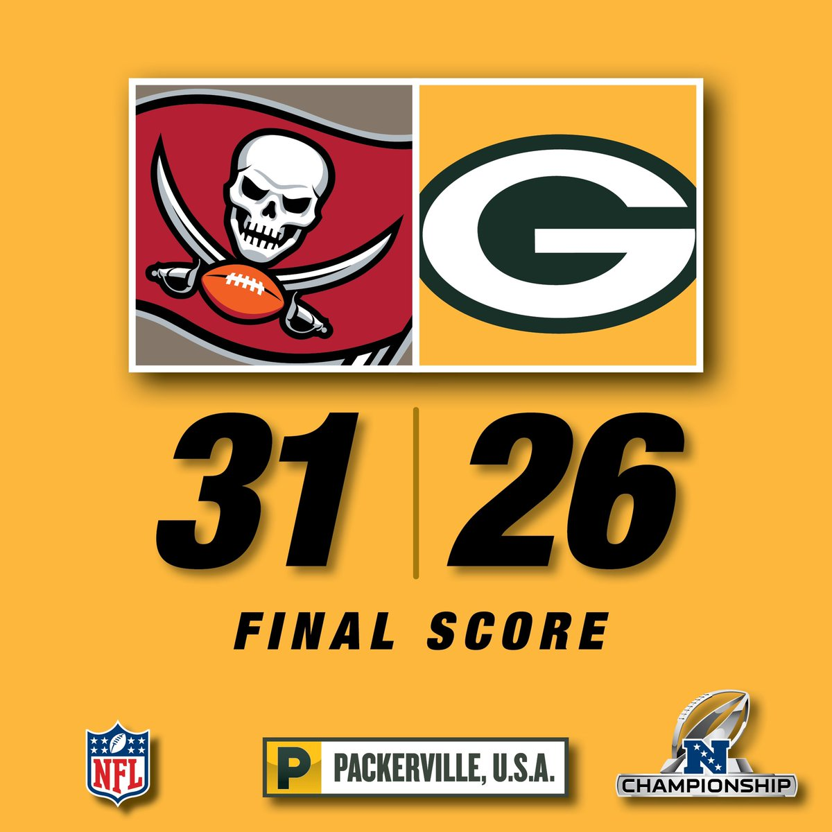 Very disappointing game today. Don't know what else to say. . #greenbay #packers #gopackgo #titletown #lambeaufield #nfl #nfcchampionship #nflplayoffs #buccaneers #TBvsGB #WinItForTed