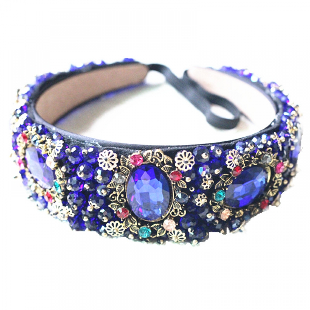 #cute #pretty Luxurious Baroque Style Headband with Rhinestones