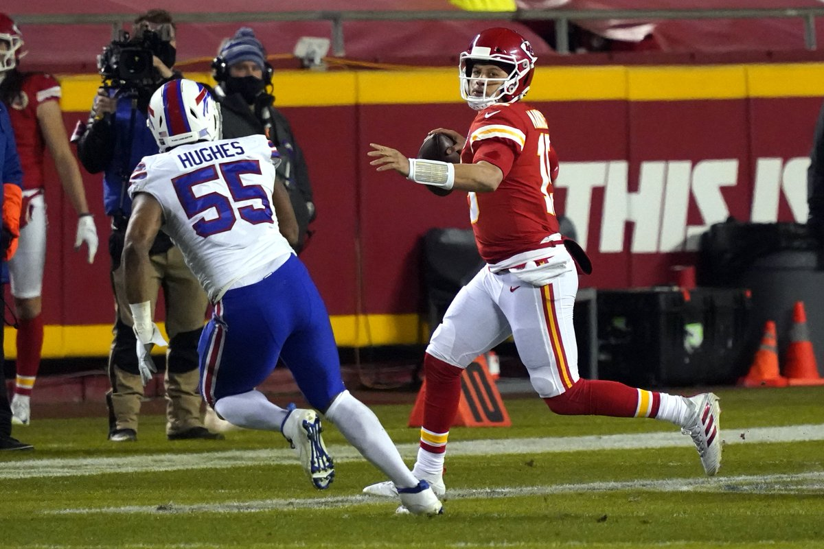 #Chiefs 21, #Bills 9 con 4:12 por jugar en el 2do cuarto. #SuperBowlLV. #NFLPlayoffs #AFC