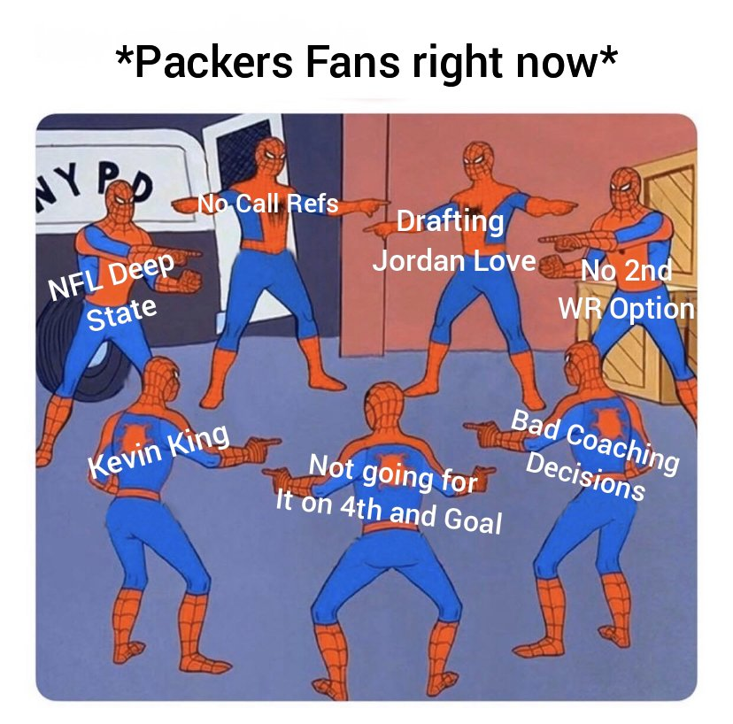 I took some time to reflect and made this meme about today's game based on my timeline #GreenBayPackers #GBvsTB #NFCChampionship