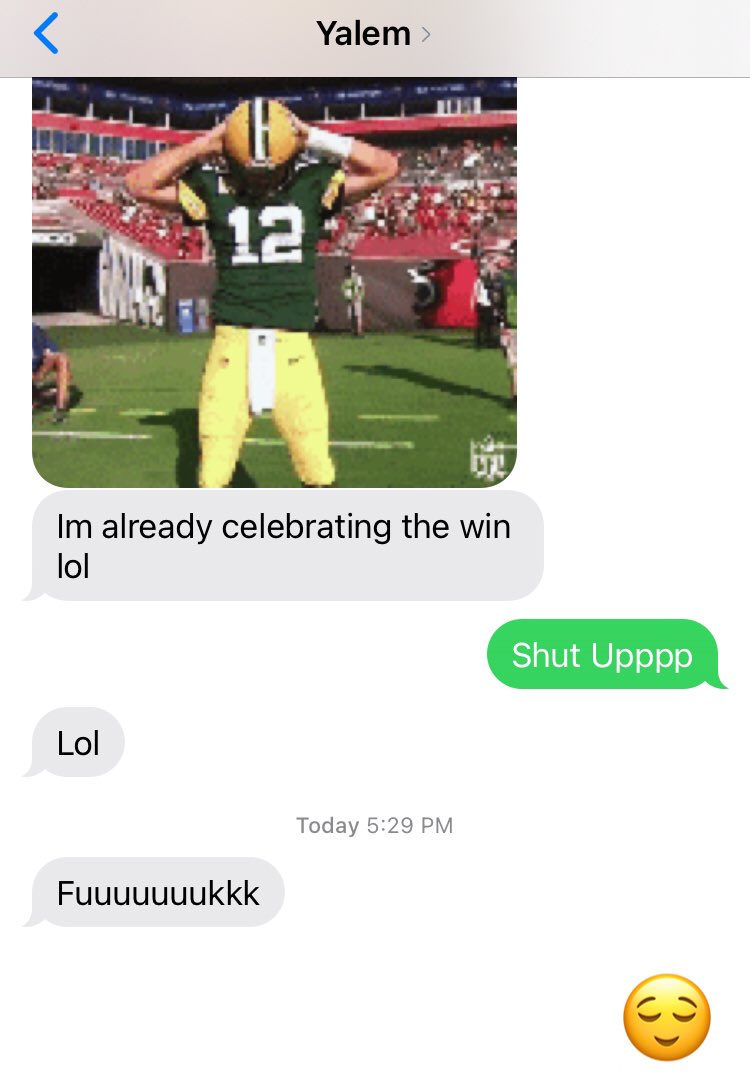 When The Minnesotan Packer Fan Accepts The Fact That Tom Brady Whooped That Cheesy Ass..... Excuse Me While I Enjoy This Win For A While 🤩💋🗣  #BigBro #LittleSister #TBvsGB #Packers #Minnesota #Victory 👌🏽