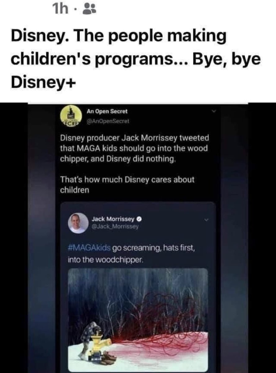@Jack_Morrissey @Disney @disneyplus @DisneyStudios @DisneyParks @WaltDisneyWorld You need to respond, an apology is NOT acceptable. Is the company founded for families&children you should absolutely be appalled by this. #Disney #DisneyPlus #DisneyWorld #MickeyMouse