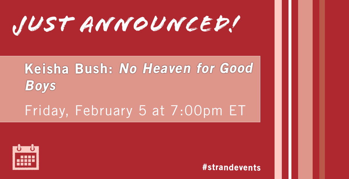 NEW EVENT! Set in Senegal, this modern-day Oliver Twist is a meditation on the power of love, and the strength that can emerge when we have no other choice but to survive. Join Keisha Bush as she presents her newest book No Heaven for Good Boys. https://t.co/tLTRn3XmOQ https://t.co/TcwIMfZ1WA