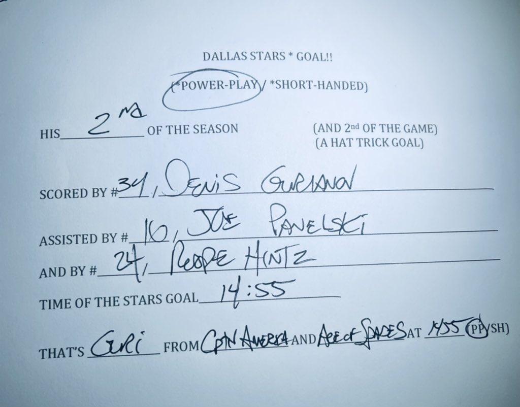 #Scorianov from #CaptainAmerica & #AceOfSpades 🚨 ON.. THE.. POWERPLAY! 1-0 #NSHvsDAL #GoStars