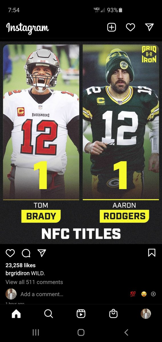 This says it all...Is Roger's overrated. Roger's let Tom come into his division and make it to a Super Bowl with the damn Buccaneers of all teams. Gaduum!! 🤣😂 #GoPackGo #Gobucs #NFCChampionship #BradyVSRodgers #BucsVsPackers #NFL #NFLPlayoffs #SuperBowlLV #TBvsGB #TB12