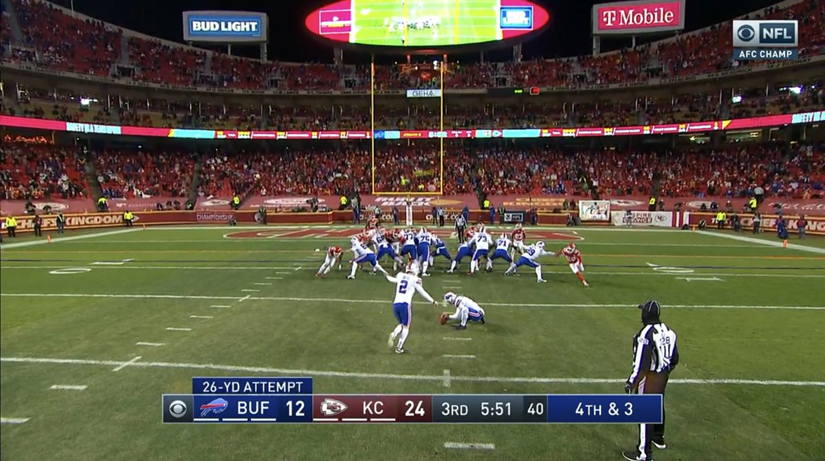 And kick by @tbass_xvi is good!   #BUFvsKC #AFCChampionship