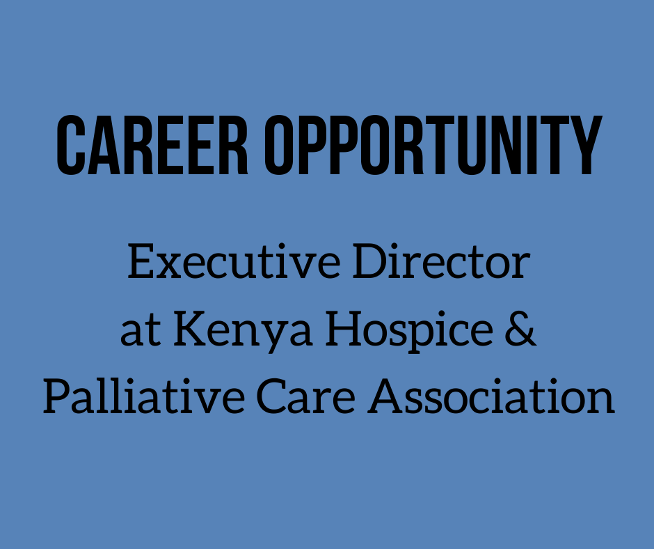 We would like to share this career opportunity with you  @KEHPCA @ICPCN @WHO @APCAssociation #ExecutiveDirector #Kenya #Hospice #PalliativeCare @zippyali