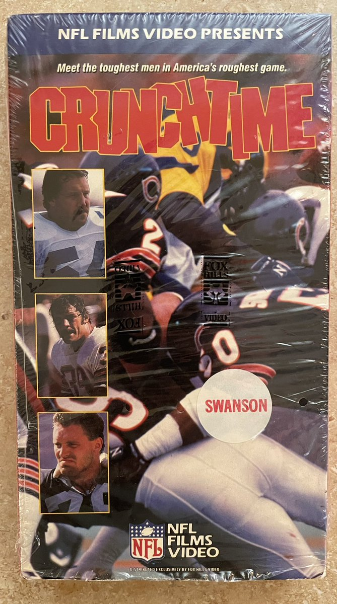 Still plenty of time remaining in the #AFCChampionship game! Here's a look at one of my favorite #NFL related #VHS This tape is from the fine folks at Swanson. @SwansonDinners #NFLPlayoffs #NFLTwitter