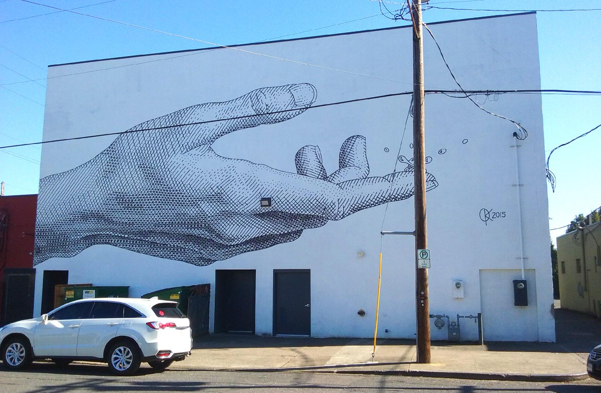 Palm rising #portland #streetart