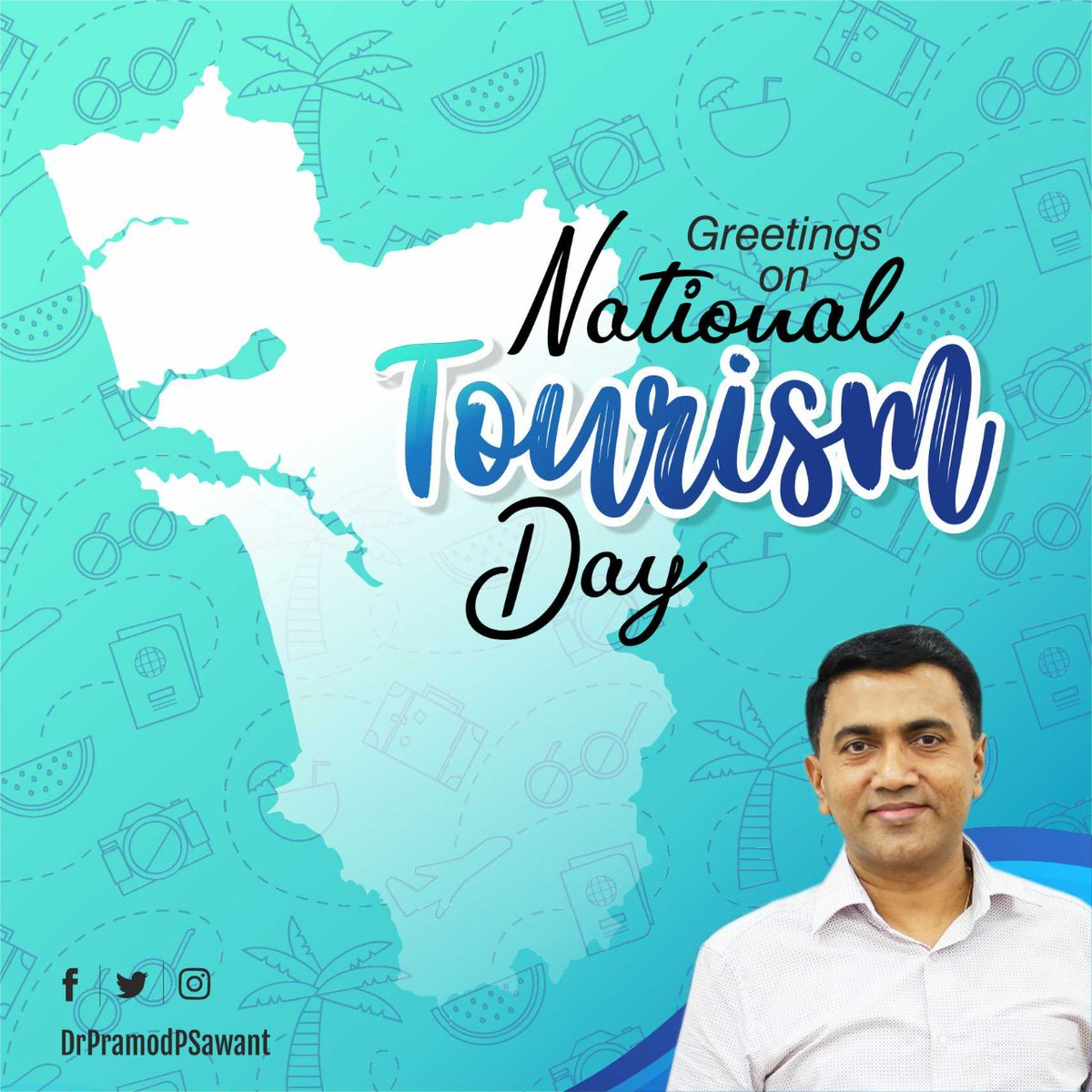 Tourism brings great growth and opportunities in the state.   On this #NationalTourismDay, we welcome everyone to experience the beauty of Goa.