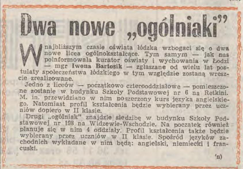 26 stycznia 1989. #Łódź wzbogaci się o dwa nowe licea ogólnokształcące (#Retkinia i #Widzew), a PDT Centrum obdarowały prezentami rodziców dzieci urodzonych 1 stycznia. Pierwsi łodzianie 1989 roku to Tomek Sobala i Marta Bodziuch. Może się odnajdą?... Co się z nimi dzieje teraz?