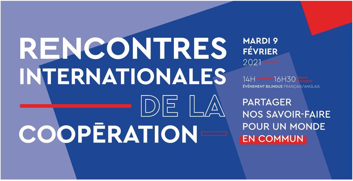 🔜 Le 9 février prochain, ne manquez pas les Rencontres internationales de la #coopération !  👉 S'inscrire :  🎙️ Nos intervenants :   📅 Le 09/02/2021, 14h-16h30 (heure 🇫🇷) 🎥 Diffusion en direct  #MondeEnCommun 🌍
