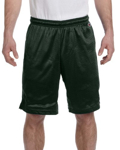 #yoga Champion Poly Mesh Shorts, Athletic Dark Green , Large