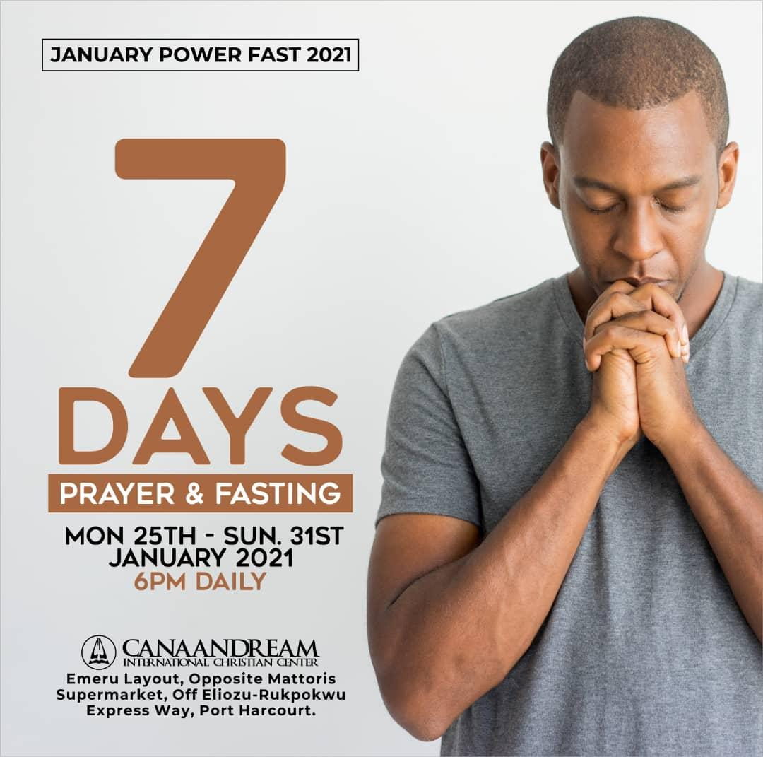 Most situations wouldn't change except through prayer and fasting. If you genuinely seek God's face, you can be assured that He would show up for you Join us as we spend the next seven days waiting on the Lord.  #CanaanDreamICC #January2021 #fasting #prayer