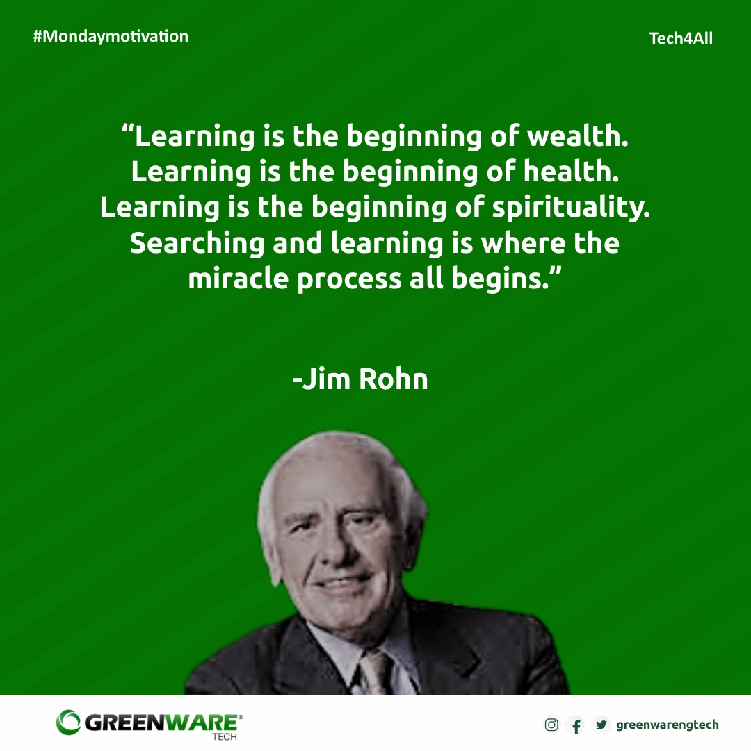 Time is precious,  Don't waste it. Learning a skill today. Searching and learning is where the miracle process all begins.  . Follow us @greenwaretech . #learning #training #time #tech4all #branding #graphics #socialmediamarketing #webdesign #digitalskill  #excited #lagos #naija https://t.co/S1CB3o7ow1