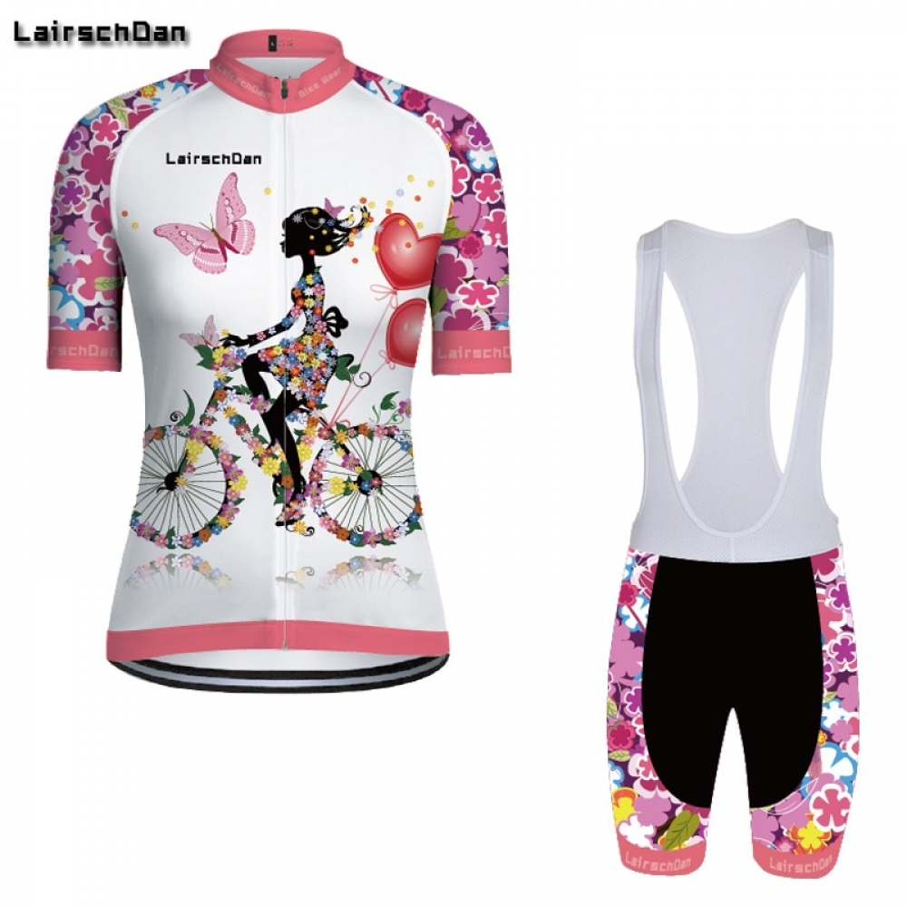 #win #winning SPTGRVO Lairschdan 2019 Pink Women Enduro Bike Jersey Set Bicycle Clothes Suit Short Cycling Clothing Kit Summer Mtb Outfit