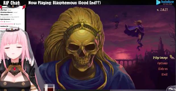 #morillion  Horray on getting the good ending of Blasphemous. Onward to Hollow Knight/ eventually Mario Kart!