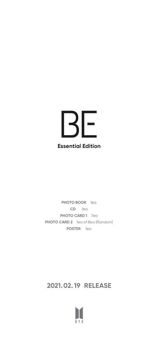 @bts_bighit <TWITTER> - 210125 - BTS_official  [Notice] #BTS 'BE (Essential Edition)' Preorder information (+ ENG/JPN/CHN)   Cr: @bts_bighit  Trans: @BTS_FRENCH_UNIT / #Hobi