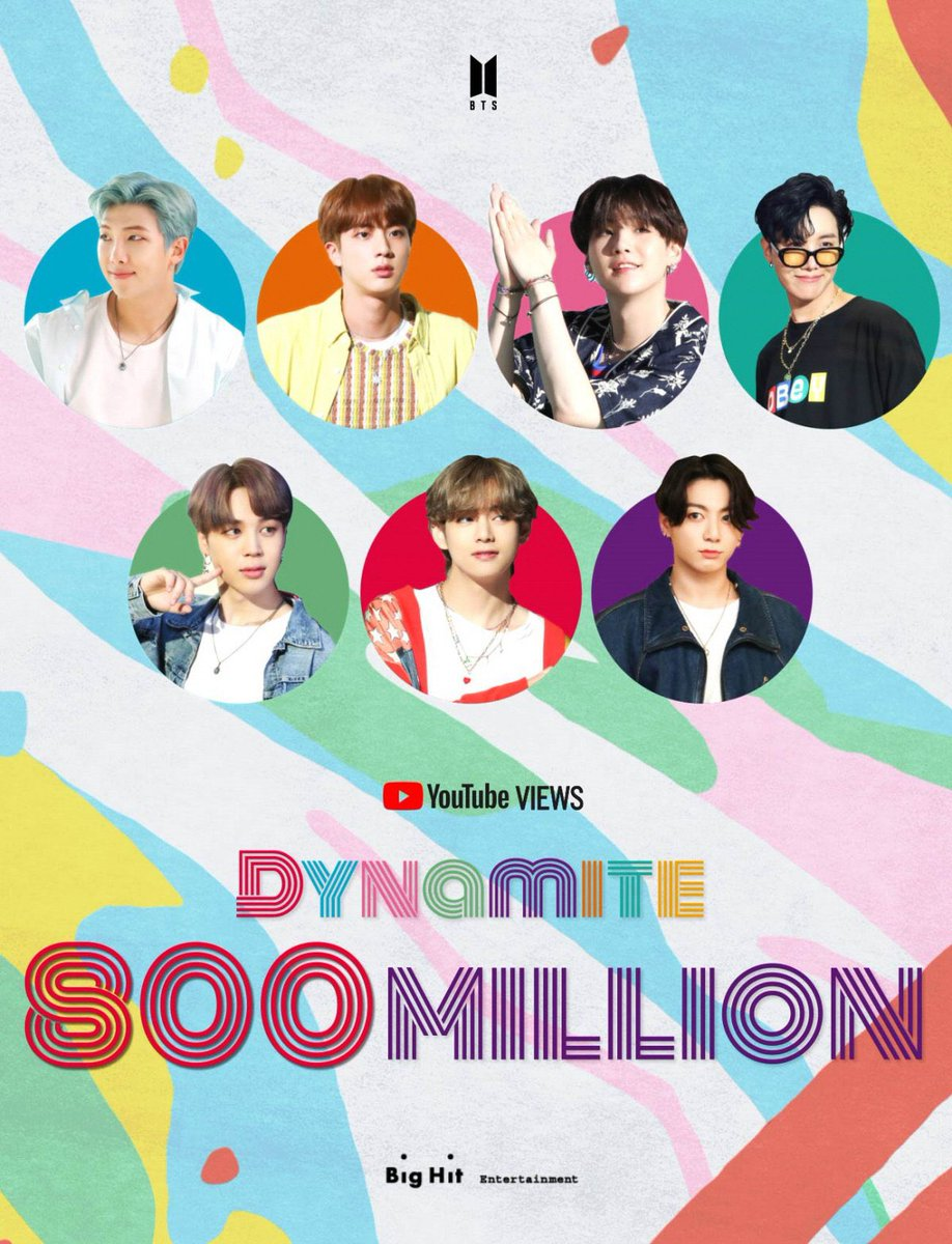 [📸] Atualização da Big Hit com o poster de comemoração dos 800 milhões de visualizações em 'Dynamite' / 25.02.21   #JIMIN #BTS @BTS_twt