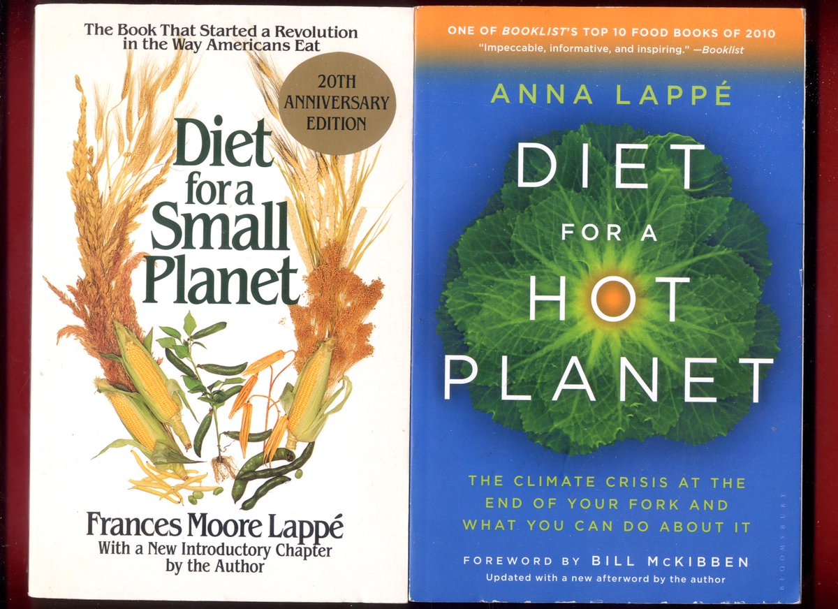 2 books: Eat as if the planet mattered: Diet for a Small Planet & Diet for a HOT Planet #FrancesMooreLappe #DietForASmallPlanet #PlantBased #RealFoodHeroes #eatforhealth #sustainability -Free Shipping - https://t.co/OYmuv9CNUe https://t.co/PzuFqtbBTI
