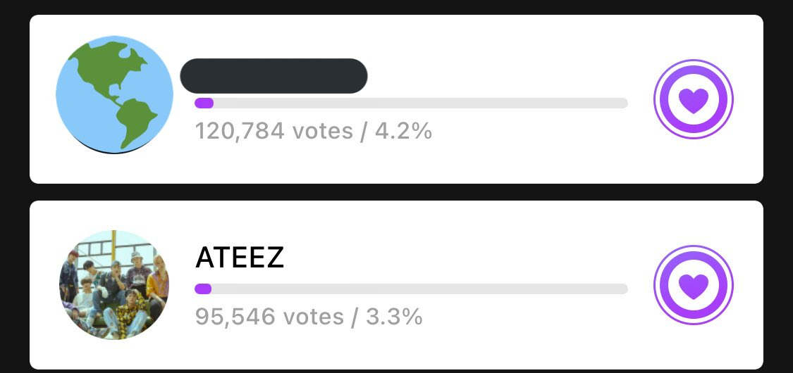 Don't forget to collect and vote on the MuBeat app for the MuBeat Awards!  Remember we are focusing on the AOTY award.  We've made good progress today and let's get 7th place next.  @ATEEZofficial #에이티즈 #ATEEZ