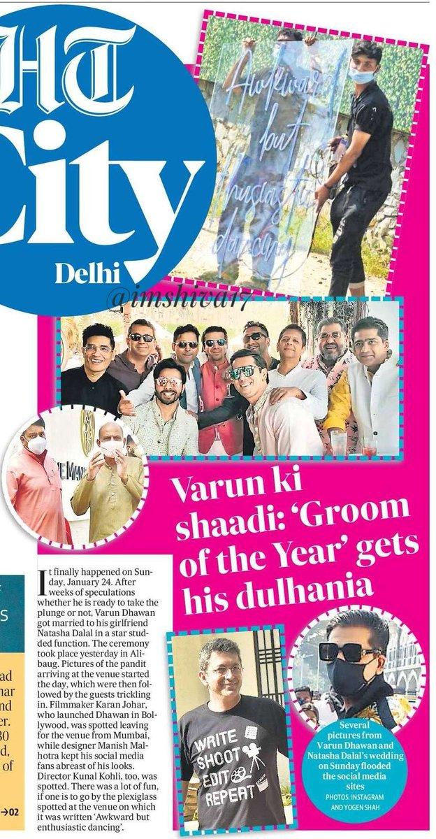 #VarunKiShaadi : 'Groom of the    Year' gets his dulhania   @Varun_dvn enjoys fun night of dance and revelry before nuptials   #VarunDhawan and #NatashaDalal   are now married!   #VarunWedsNatasha #varunnatasha #VarunNatashaWedding