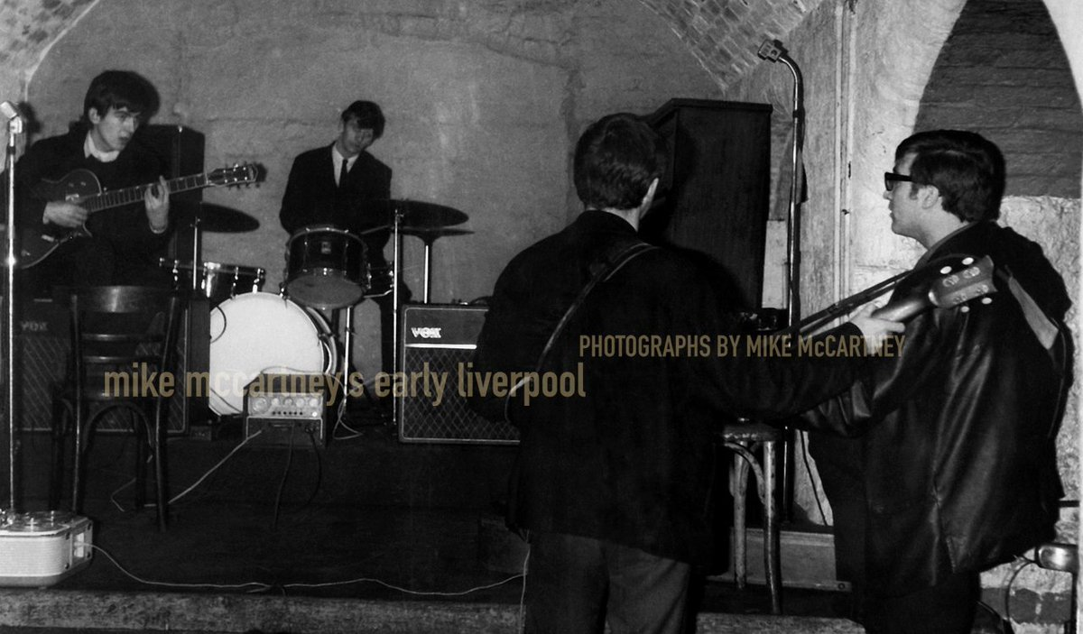 The Beatles playing on Cavern Club https://t.co/veHh2PL5Nr