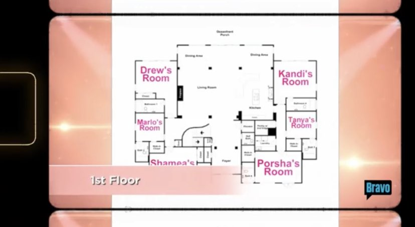 Kandi said production is showing the room arrangement for a reason 👀 #RHOA