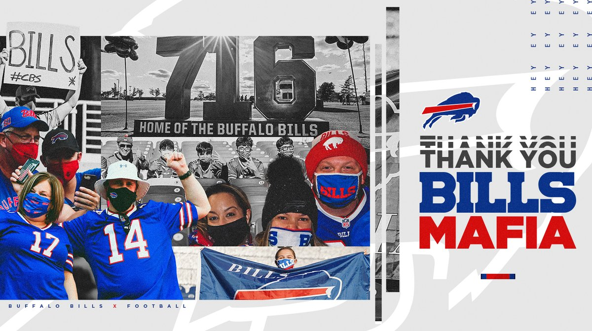 It was a season we'll never forget, in a year that was challenging for all of us.  You were with us every step of the way, #BillsMafia. Thank you for being the best there is.  We'll be back.