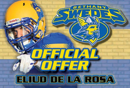 Congratulationsto @Eliud_11d on his official offer from @SwedesFB! I am extremely proud of you son! Such an amazing opportunity! Big plays and big grades! Such a blessing!  #CODEGREEN #LEANONME #OHANA #RecruitFal