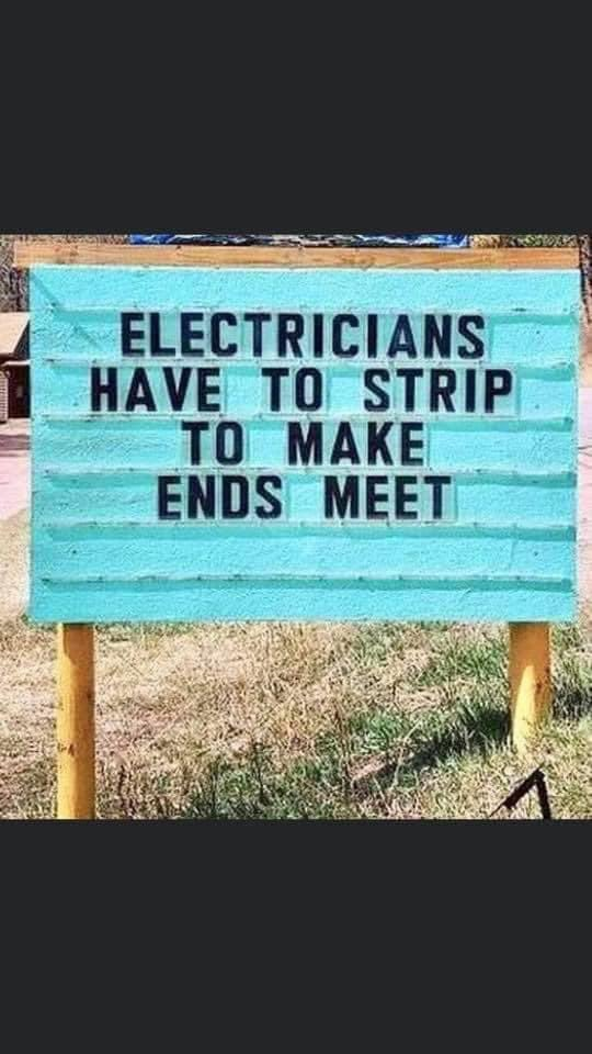 Even electricians have it hard.  All that stripping Omy!  😅 Pixie  Next On Stage One - podcast Non political just funny stories. Grab a beer and join the podcast.    #follow #happy #instagram #amazing #podbean #apple #iheartradio #pandora #spotify