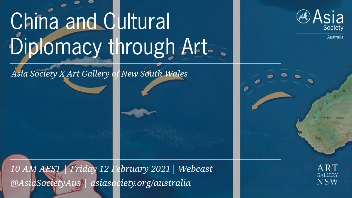 FREE PUBLIC WEBCAST | 10AM AEDT Fri 12 Feb  '#China and #Cultural #Diplomacy through #Art' w/ Distinguished Professor Ien Ang @westernsydneyu, curator Yin Cao @ArtGalleryofNSW, @GeoffRaby AO, and acclaimed #artist Guan Wei.   Register now: https://t.co/cZA1PFyJlr https://t.co/IsfieqVEwI
