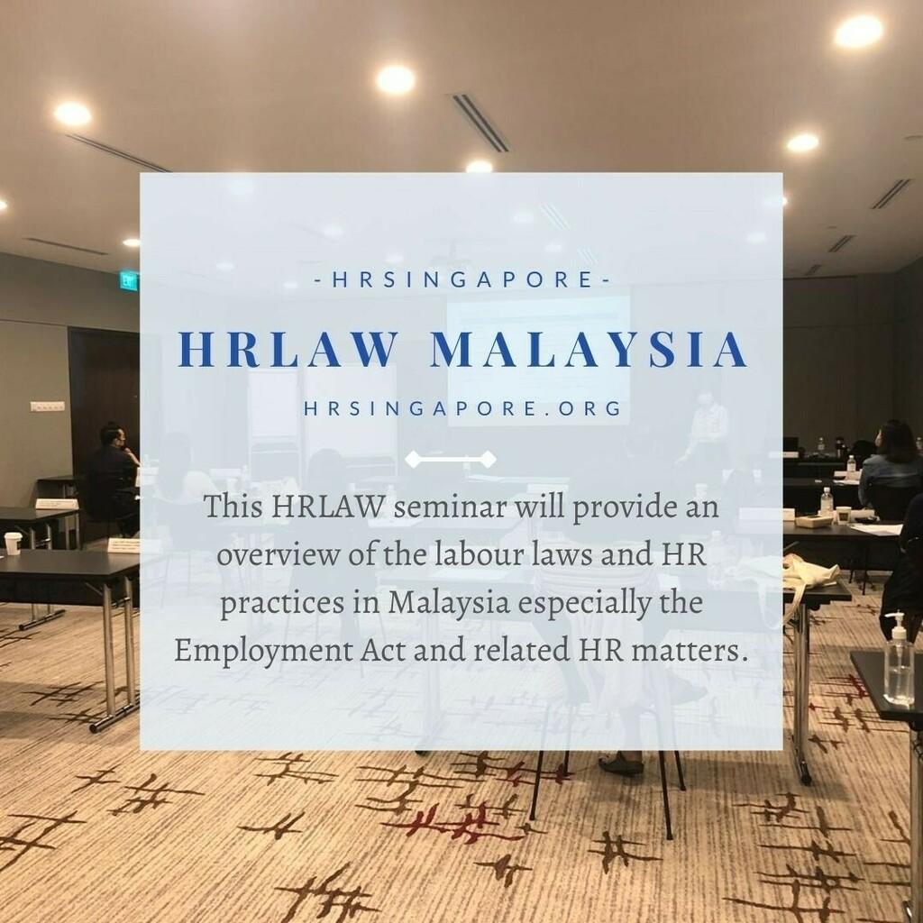 HRLAW Malaysia  HRSINGAPORE - https://t.co/6dhbggnRfT  #hr #hrsingapore #hrlaw #law #labourlaw #employmentlaw #employmentact #malaysia #humanresource #workshop #hrcourse #seminar https://t.co/7mzq55SnhE https://t.co/UceqJkRRyO