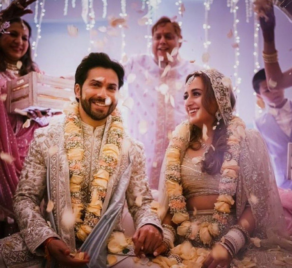 Many congratulations dearest @Varun_dvn and #NatashaDalal - wishing you a life time of happiness and love. You guys are looking gorgeous together- happy married life - stay blessed. https://t.co/eWlF0fcSj5