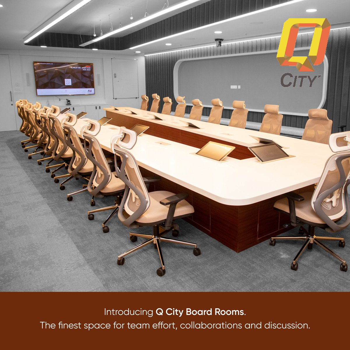 Collaborate, innovate and create. Introducing Q City boardrooms. Reach out to us for more information.  . . . . . #Hyderabad #Hyderabadworkspace #workspace #workspacesolution #employer #employee #team #collaborate #amenities #office #officespace #worklife #work #facilities https://t.co/00Y6mwaASx