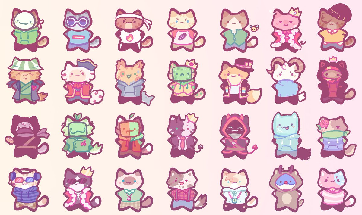 Replying to @falliay: I was very nervous because school starts tomorrow so I drew a bunch of cats.... a bunch #mcyt