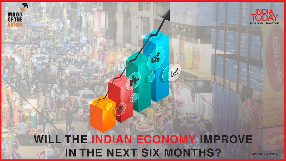 Will the Indian economy improve in the next six months? To find out, click  to download the Mood Of The Nation special issue of the India Today magazine #MoodOfTheNation #MagazinePromo