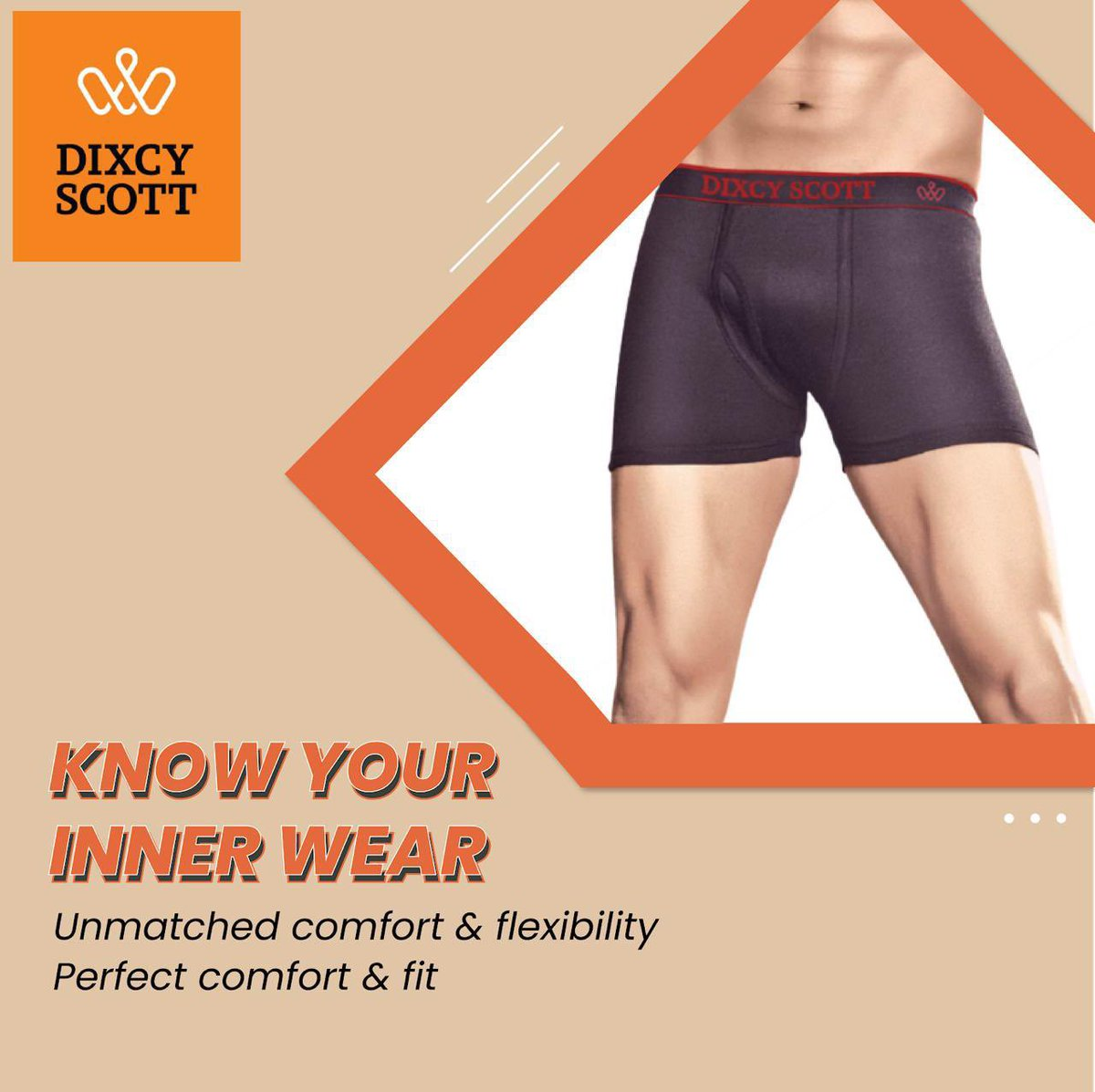 Boost your confidence daily with style & comfort of Scott inner wear. #LoveYourBody  #DixcyScott #Dixcy #Scott #MensWear #CasualWear #Athleisure #WinterWear #WorkoutWear #FeelItNow #Comfort #Style #Stylish #InnerWear #Hero