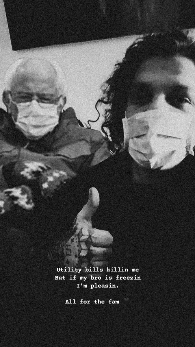 You cold? Got u B 👊🏼 _ #BernieSanders #BernieMeme #democrats #bros #Covid_19 #mask #handtattoo #tattoos #curls #producer #producergrind #letswork #beatmaker #beatmaking #beatmakers #musicproducer #bnw #bnwphotography #rap #fam #selfie #BernieSandersmemes #blackandwhite #cold #lit