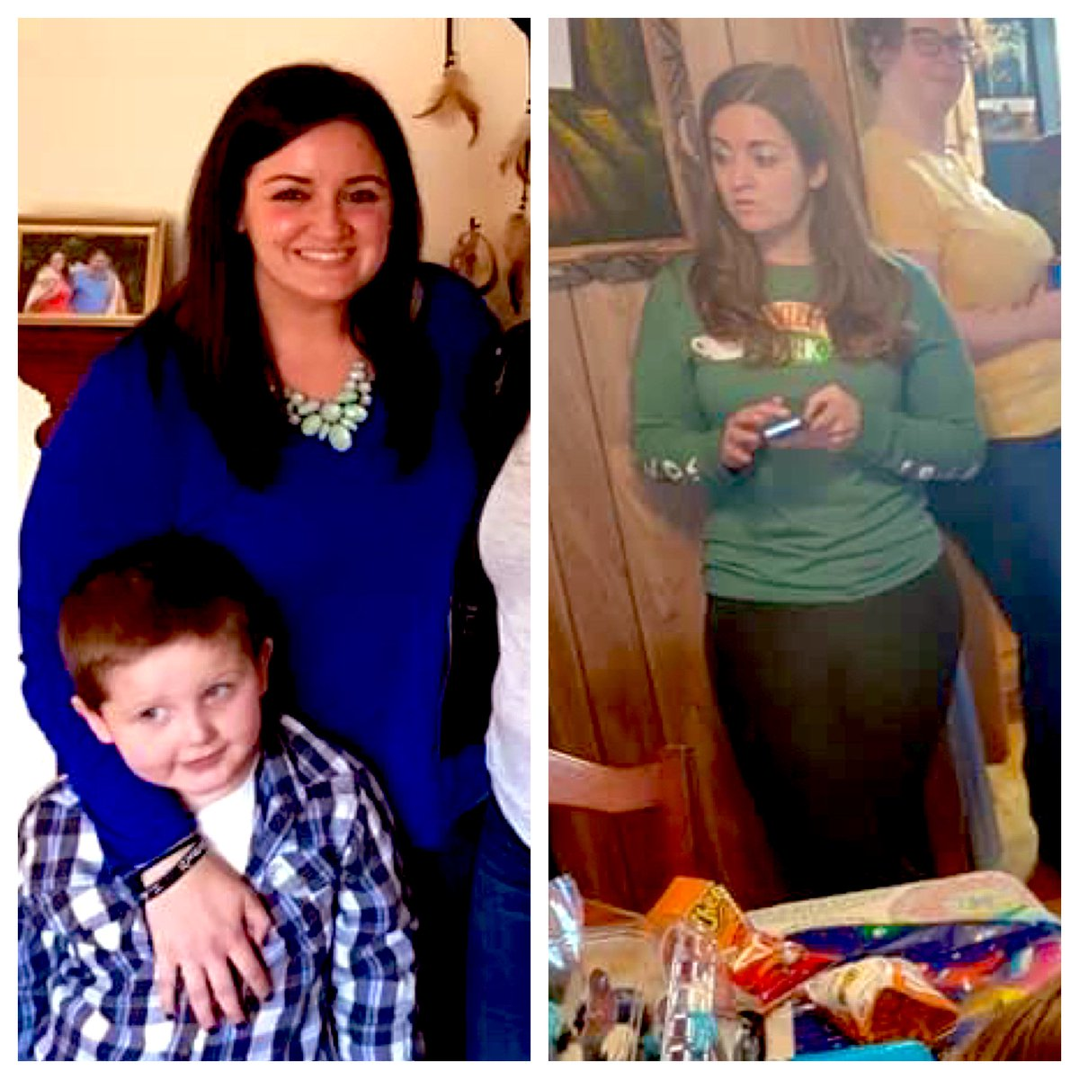 I was having an off day. Then my mom posted the photo on the right from earlier today. Then I remembered this photo from a few years ago (on the left).   This is a reminder that you're doing good sweetie. Keep drinking the water, boxing, and eat that cake at the bday party☺️