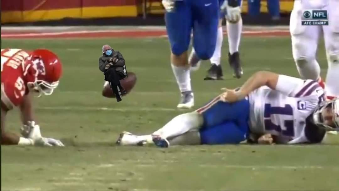 Bruh #NFLPlayoffs #KCvsBUF #KansasCityChiefs #BuffaloBills @JoshAllenQB #Memes @BernieSanders