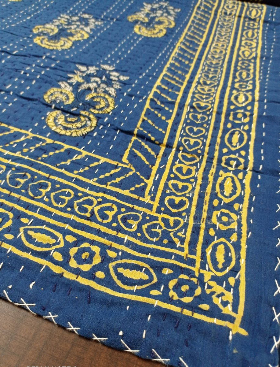 Excited to share the latest addition to my #etsy shop: Paisley Printed Kantha Coverlet Hand Stitched Bedspread Hand Made Bedding Beautiful Duvet Cover Soft Natural Throw Cum Bedding Set RAJ#017  #blue #graduation #thanksgiving #yellow #paisley #k