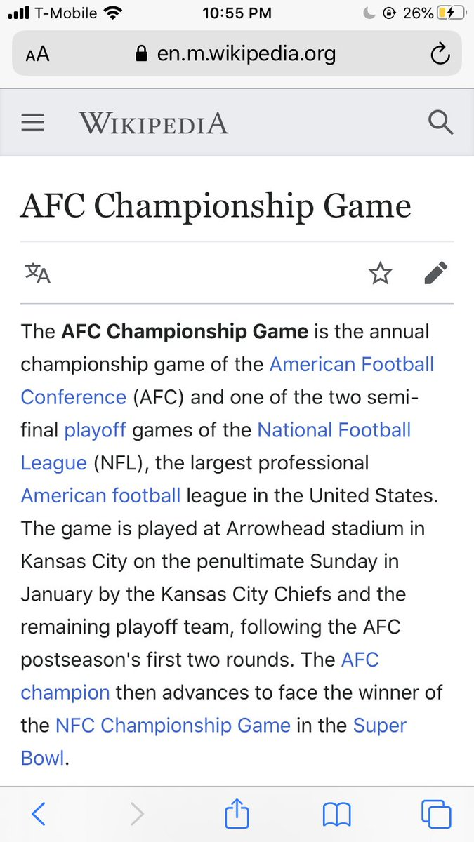 Someone edited Wikipedia lol #AFCChampionship #KCvsBUF #RunItBack