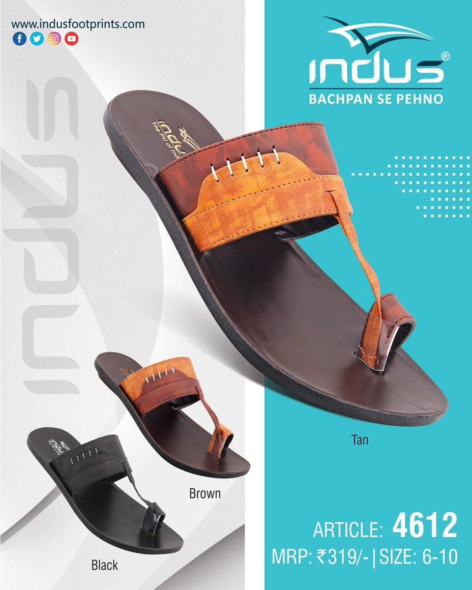 Walk with class ✨ #IndusFootwear #bachpansepehno #style #sandals  #casualfootwear #comfortwear #newyear #2021. . . . . . . DM to place order or contact us directly through 📞+91 8875656000