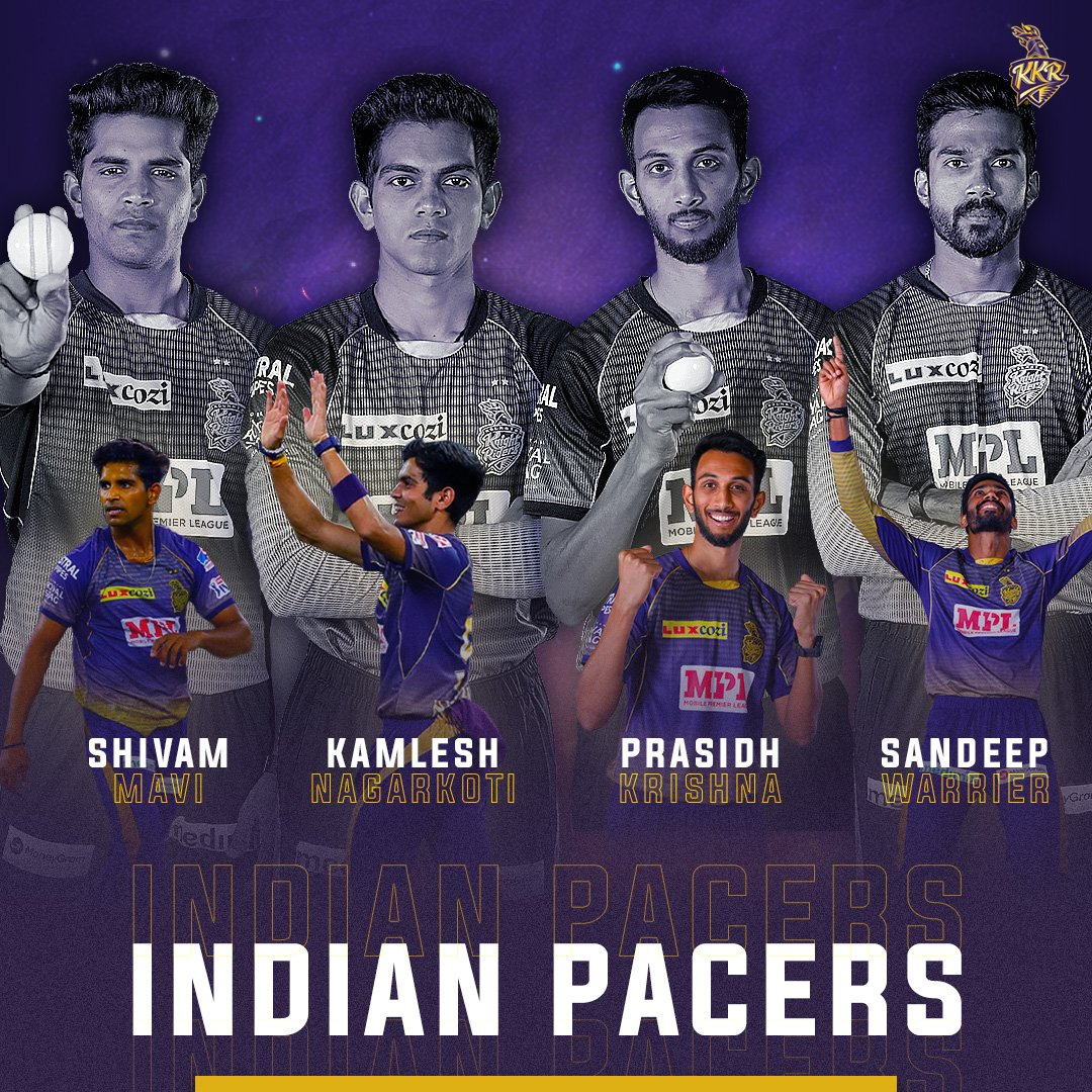 (14/17) + (15/17) + (16/17) + (17/17) #KKR Retentions:   Our Indian Pace Battery is all charged up and ready🔥  Who would you like to see most consistently in the Playing XI?  #IPL2021 #KKRHaiTaiyaar #Cricket #IPLretention #IPLAuction