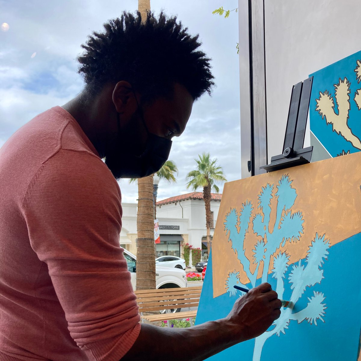 Live Painting at Summer Colony Living w/ Tysen Knight. #BehindTheScenes   #BeINSPIRED! 🌎🎨❤️