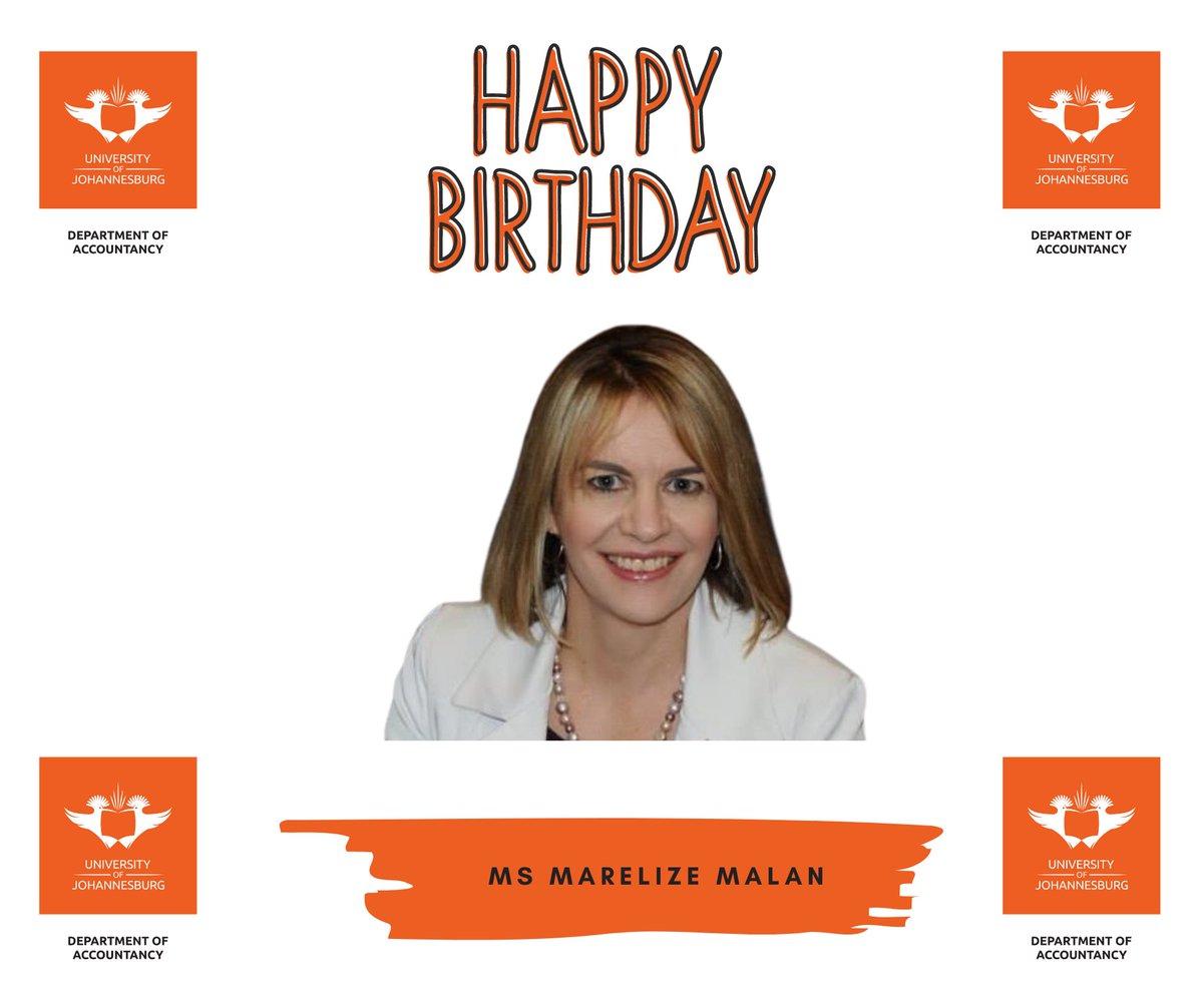 Happy Birthday Ms Marelize Malan #Accounting