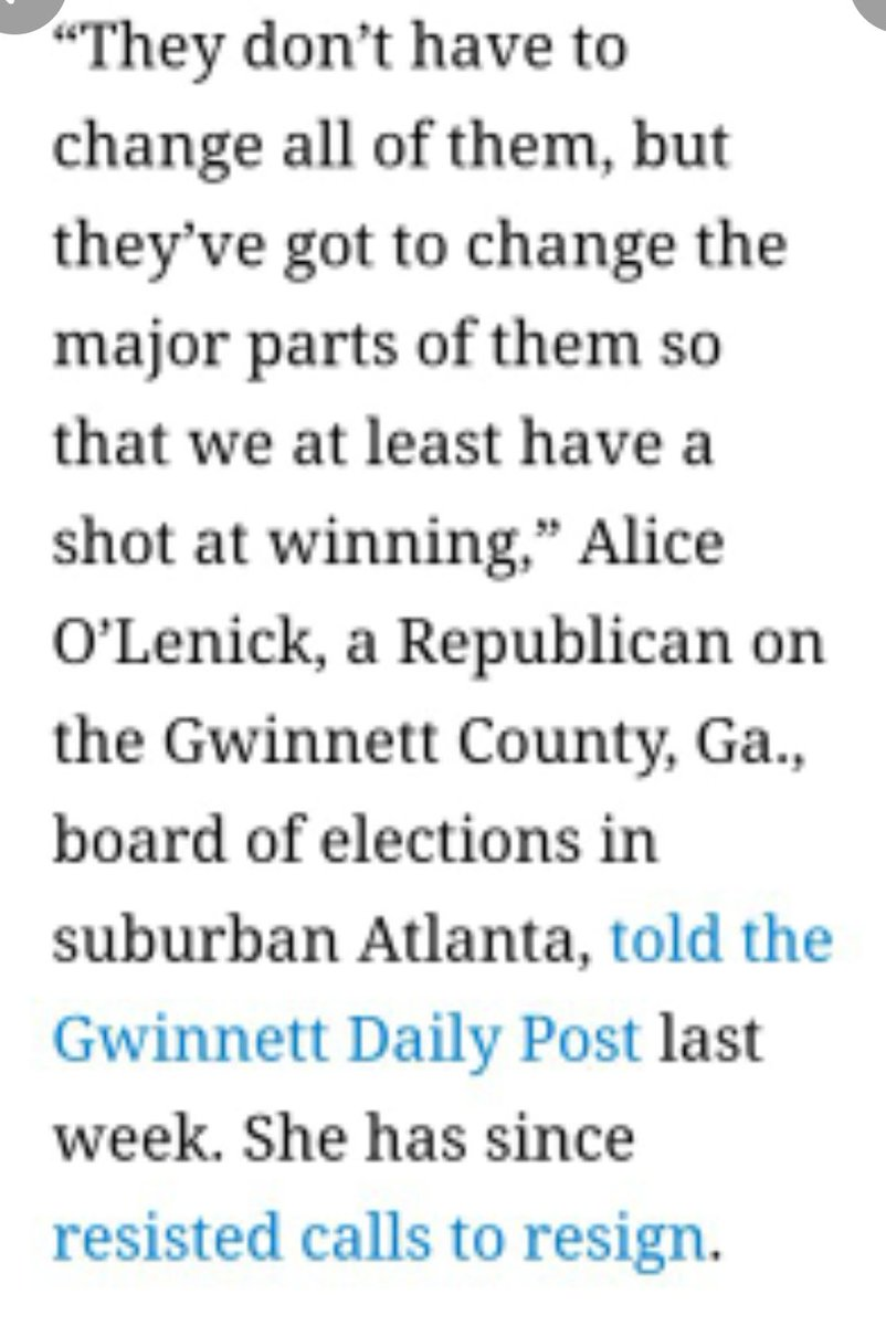 #GApol 🍑🍑🍑🍑 #GwinnettCoVoters Call Write email #GaSenators & #GaHouseReps Demand Alice O'Lenick #GwinEB #AliceOLenickResign ~ 🍑 #GaVoters Remain vigilant & steadfast: #ReadCutThroatQuotes & use those words against your representatives. #AliceOLenick_Resign @GeorgiaDemocrat